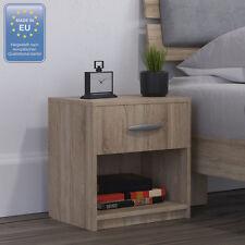 2x Table de chevet Table de nuit Commode à coucher Tiroir Rangement Sonoma