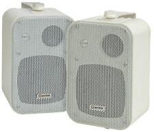 Kompakt stereo LAUTSPRECHER-PAAR inkl. Wandhalterung av:link B30 Weiß - NEU