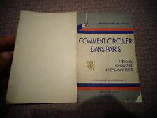 COMMENT CIRCULER DANS PARIS ,Piéton Cycliste Automobiliste Circulation 1934