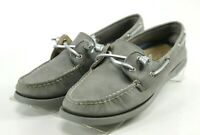 Sperry Top Sider AO 2 Eye $90 Women's Boat Shoes Size 8.5 Leather Gray