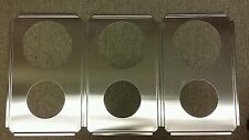 3 Brand New Stainless Steel  Insert Adapter Plates for Steam Table or Warmer