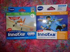Lot 2 VTECH INNOTAB GAMES Miles From Tomorrowland & Disney Planes Lot#29