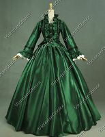 Victorian Gothic Queen Dress Ball Gown Theater Cosplay Steampunk Clothing 170