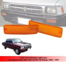1 PAIR FRONT BUMPER ORANGE LIGHT LENS FOR TOYOTA HILUX PICKUP MK3 LN85 1989-1995