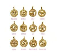 9CT Gold Filled Zodiac Star Sign Pendant Constellation  necklace  B421