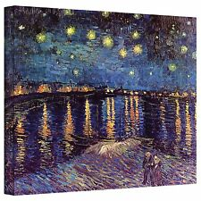 Art Wall Starry Night Over the Rhone by Vincent Van Gogh Gallery Wrapped Canvas