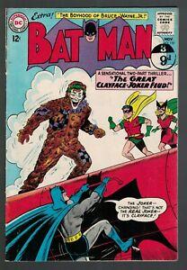 Batman Dc Comics Clayface Joker feud 1963 VGF 5.0