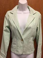 NWT Periscope Women's M Green & White Stripe Lightweight Jacket Blazer