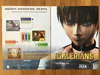 Galerians Playstation PS1 PSX 1999 Vintage Game Poster Ad Art Print Rare HTF
