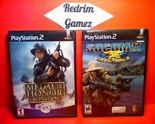 Socom II & MOH Frontline PS2 Video Games