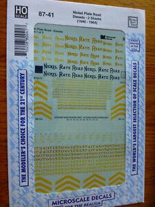 Microscale Decal HO  #87-41 NKP Diesels - 2 Sheets