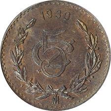 Mexico 5 Centavos Mo 1930, PCGS MS64 BN. KM# 422
