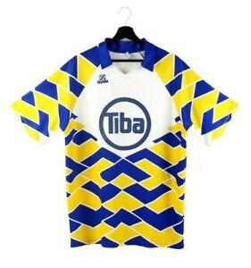 90s ESSEGI vintage t-shirt jersey tshirt tee nylon soccer Italy multicolor L XL