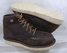 "Danner Mens Bull Run Moc 6"" Brown Safety Toe Work Boots Shoes 15564 size 11 EE"