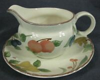 Mikasa Fruit Panorama DC014 Gravy Boat with Underplate Country Classics