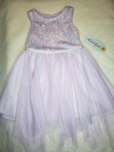 Cat & Jack Girls Purple Sequin Dress 3T Fairy Princess Sparkle Glitter Shine FUN