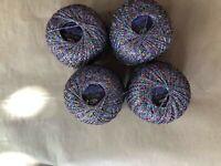 Brocade yarn, mettalic thread, multicolor yarn, lurex, glitter yarn, lame 200 gr