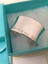 Tiffany & Co Sterling Silver 1837 Wide Cuff Bangle Bracelet. Small. RRP $1700