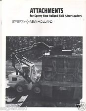 Equipment Brochure Sperry New Holland Skid Steer Loader Attachments E1700