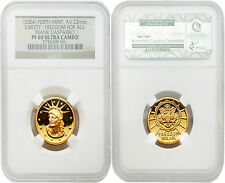 USA 2004 Liberty Freedom for all Frank Gasparro 10 gram Gold NGC PF69 ULTRA CAME