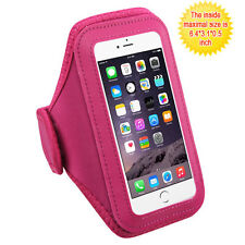Vertical Pouch Universal Pink Sport Armband for iPhone 7 Plus, iPhone 6s/6 Plus