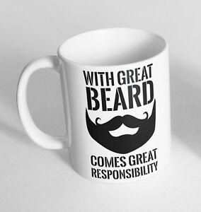 Great Beard Great Responsibility Cup Ceramic Novelty Mug Funny Gift Tea Coffee