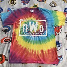 nWo New World Order T-Shirt Medium Tie Dye (No Peace) WCW Wrestling Original