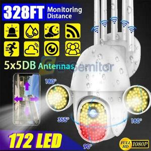 172 LED 1080P WIFI IP Camera Wireless Outdoor CCTV HD PTZ Smart Security IR Cam