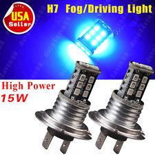 2x Ultra Blue H7 15W Super Bright LED Fog/Driving Light Lamp Bulb 12V US
