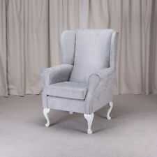 Westoe Armchair in a Oleandro Silver Fabric - OLE1428