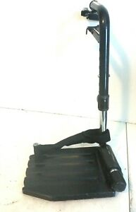Invacare T93HCP Swingaway Hemi Footrests with Heel Loop Footplate Black
