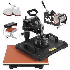 5 In 1 Heat Press Machine Dual Digital Transfer Sublimation For Mug Hat