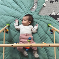 Baby Leaf Cotton Play Gym Mat Rug Carpet Crawling Blanket Game Pad Nursery Decor