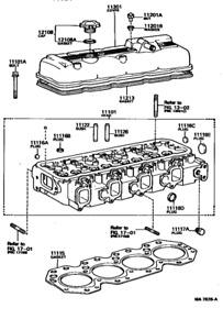 TOYOTA OEM CYLINDER HEAD FOR DYNA 200 BU61 BU65 11B 3.0L UP TO 8/1988 RED BLOCK