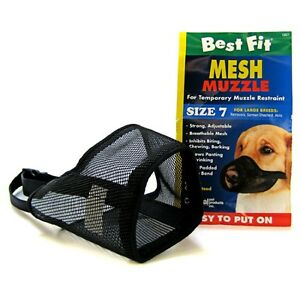 """Coastal Pet Best Fit Mesh Dog Muzzle Select A Size 3"""" to 13 1/2 Sm to LG Dogs"""