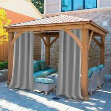 Outdoor Decor In & Outdoor Gazebo Solid Grommet Top Window Panel Grey