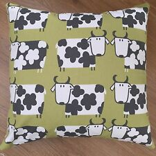 """New Novelty Lime Green Cow Scatter Cushion Covers 16"""""""