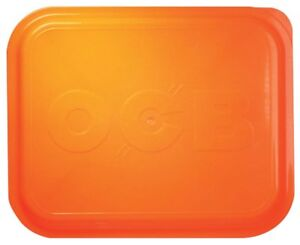 1 x Large OCB Rolling Tray Lid Cover Orange 14 x 11, Same Day Express Shipping