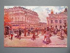 R&L Postcard: Paris L'Opera et la Place de L'Opera, George Stein, Artist