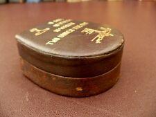 Vintage Leather Collar Stud Box - Pair Of Vintage Gilt Cufflinks