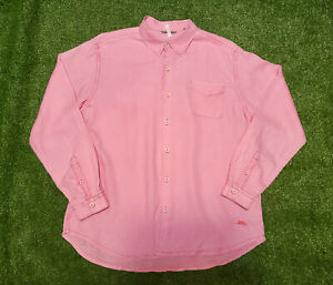 Tommy Bahama Relax Long Sleeve Button-Front Shirt Mens Sz XL 100% Linen