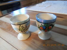 VINTAGE JAPAN PORCELAIN LUSTERWARE TWO (2) EGG CUPS..HAND PAINTED