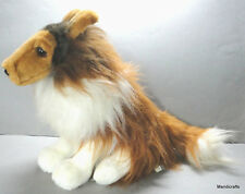 Ganz Collie Dog Sitting Long Fluffy Plush 12in 1996 Realistic Look Vintage H1933