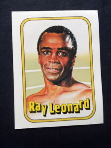 1982 Italy Rare Ray Leonard Usa Boxing CARD original MINT Panini