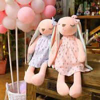 Cute Long Ears Rabbit Plush Toy Soft Pillow Dolls Stuffed Cushion Kid Gift