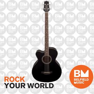 Takamine GB30 Acoustic Bass Guitar Left Handed Black Pickup Cutaway TGB30CEBLKLH