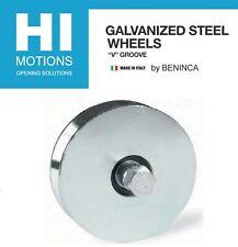 Beninca 4 V Groove Galvanized Steel Slide Gate Roller Wheel1000lb1011001pcs