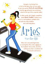 Postcard Horoscope Zodiac Star Sign ARIES, Ladies, Women, Girls, Novelty Gift