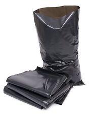 EXTRA HEAVY DUTY BLACK RUBBLE BAGS/ BUILDER SACKS - BOX OF 100