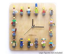 LEGO clock for kids Mini Figure Color WOOD Wall Clock-Finland Betula platyphylla